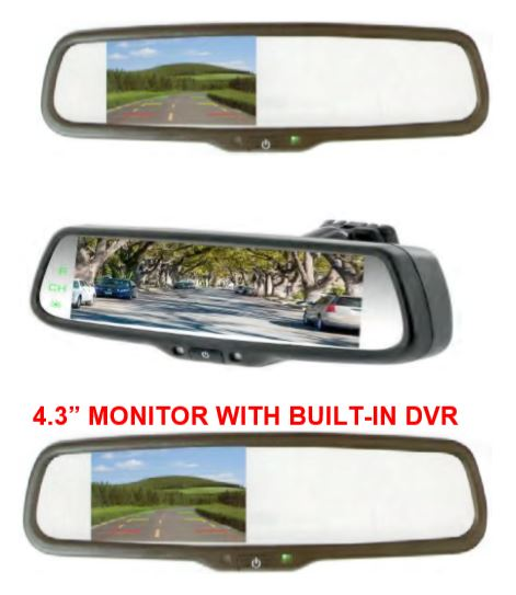 Mirror Monitor With Built-In DVR